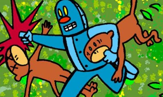 Monkey vs. Robot